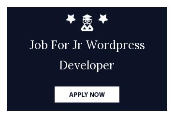 Job For Jr Wordpress Developer