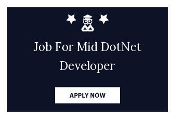 Job For Mid DotNet Developer