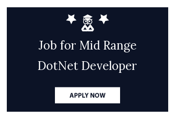 Job for Mid Range DotNet Developer