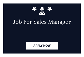 Job For Sales Manager