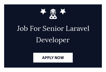 Job For Senior Laravel Developer