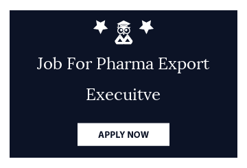 Job For Pharma Export Execuitve