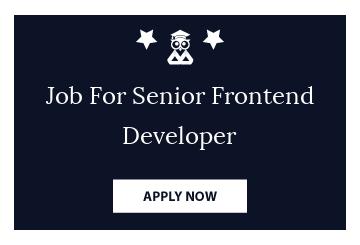 Job For Senior Frontend Developer
